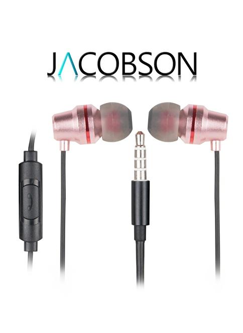 Jacobson JK-4 İos ve Android Uyumlu Mikrofonlu Kulaklık Pembe